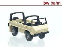 Roco miniatur modell H0 1704 Steyr Puch Pinzgauer 4x4 Geländewagen beige Neu