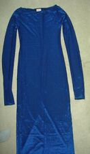 Vintage Byblos Blue Metallic Glittery Knit Cocktail Gown Dress Xs It 38
