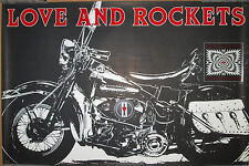 LOVE & ROCKETS 1989 motorcycle promo poster, 20x30, EX, Harley Davidson