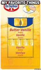 Dr Oetker aroma de alimentos líquidos, Vainilla de mantequilla, 4 X 2ml, Para Hornear & Pasteles.