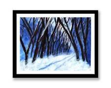 Snow lane  -Impressionist art Acrylic painting unique gift (Print) ID : 1569