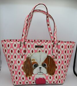 Kate Spade Laurel Way Tote with Kiki Hamann Cavalier King Charles Spaniel Art