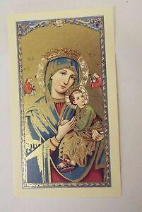 Virgen del Perpetuo Socorro Estampa de oración /Spanish Prayer,New