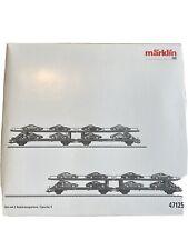 Marklin Ho Porsche Auto Transport. Set 47125-01 And 47125-02 Complete, New In Bo