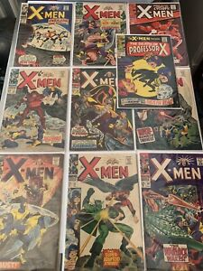The X-Men Silver Age Mixed Comic Book Lot Issues Range From 26-42 VG/FN