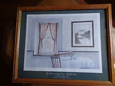 A Setting for Andrew Wyeth by Gene M. Schultz, Jr. Signed Print Chadds Ford Inn