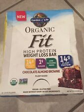 Fit Organic Plant-Based High Protein Bar - Chocolate Almond Brownie (12 Bars)