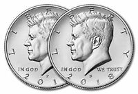 2018 P&D KENNEDY HALF DOLLAR SET TWO COINS UNCIRCULATED US MINT