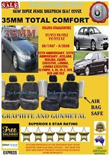 Commodore VT/VX/VY/VZ Super Dense Sheepskin Car Seat Covers Pr Airbag Safe 35MM