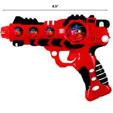 2 Pack Intergalactic Space Laser Gun with LED Lights and Futuristic Sounds