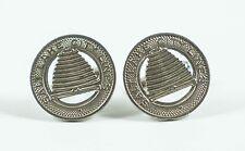 Vintage Salt Lake City Streetcar Token Cufflinks -- Coin Money Utah Jewelry