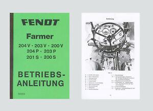 FENDT Farmer 200 V  Betriebsanleitung Schlepper
