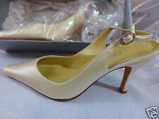 Womens Shoes Grace Solid Silk High Strappy Shoes Bridal SZ 6B Candel Light New