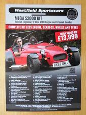 WESTFIELD MEGA S2000 2012 UK inchiostri KIT le vendite di automobili foglio Brochure