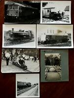 Trains and Railways Black & White Vintage Photographs x 7