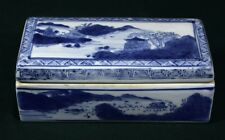 Antique Chinese blue and white box, Qing period
