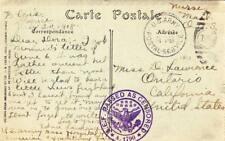 1918, Nurse Mail, Base Hospital #47, France to Ontario, CA, Censored  (M2866)