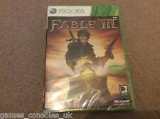 XBOX 360 FABLE III GAME BRAND NEW SEALED MICROSOFT 3