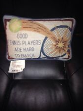 """Decorative Throw Pillow- 12 x 8 Inch  """"Good Tennis Players Are Hard To MatcH"""""""