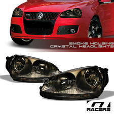 For 2006 2009 Vw Golf Gti Rabbit Jetta Mk5 Smoke Housing Headlights Lamps Nb Fits 2007 Volkswagen