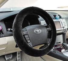 Warm Black Plush Steering Wheel Cover Winter Furry Fluffy Soft Plush Car Wheel