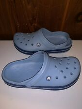 Crocs Women's Men���s Classic Clog Light Blue Size M8 W10 Slip On Back Strap