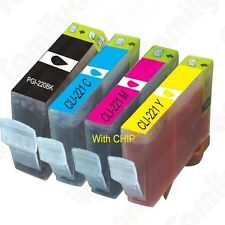 PGI 220 CLI 221 Ink Tank for Canon Printer Pixma MX860 MX870 MP560 -4pks