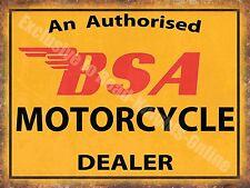Vintage Garage, 64 BSA Motorcyle Dealer, Old Motorbike Oil, Small Metal/Tin Sign