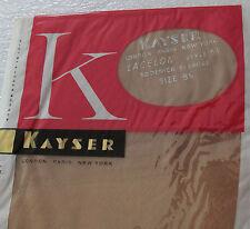"Kayser fully fashioned nylon stockings 8 1/2"" leg 30 LACELON Blush Vintage 1950s"