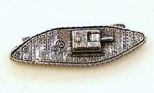 Great War British Tank Pin Badge in English Pewter, Handmade, WW1 (wa)