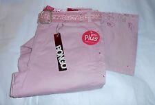 Bongo Plus Size Girls Embellished Pants + Animal Print Belt Pink 14 1/2 NWT