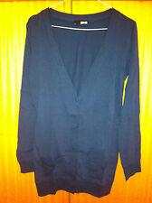 Cardigan cotone blu ASOS navy cotton cardi UK6 EU34 IT38