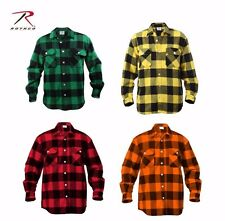 Rothco Extra Heavyweight Buffalo Plaid Flannel Shirts 4739, Choose Sizes M - XXL