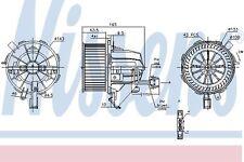 NISSENS Gebläsemotor Lüftermotor Innenraumgebläse AUDI A6 C5 98-05 4B1820021B