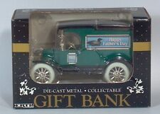 """Ertl 1913 Model T Ford Van 6"""" Die Cast Scale Model Bank 1992 Father's Day Duck"""
