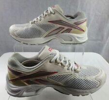 Reebok Hexalite Women's White Leather Mesh Lace up Running Gym Trainers Size 7