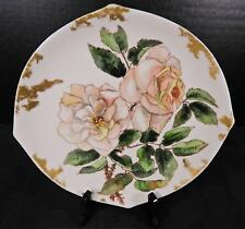 3 Antique Hand Painted China Plate Nappy Serving Plate