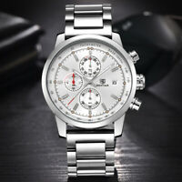 Luxury Brand Benyar Men Watch Chronograph Full Steel Japan Movement Wristwatch