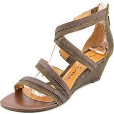 Sandalias con tiras de mujer marrón