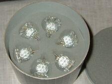 "Vintage Swarovski Crystal Pin Candle Holders, Set of 6, 1"", 7600 Nr 131, Mib"