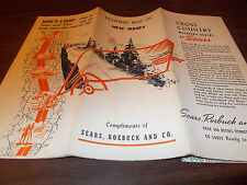 1930s Sears New Jersey Vintage Road Map