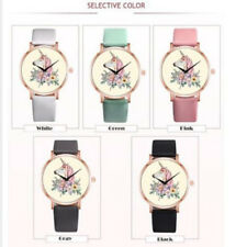 Watches Women Girl Unicorn Faux Leather Band Quartz Round Wrist Watch Hot