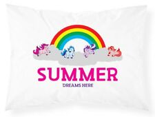 Personalised Pillowcase Kids Unicorn Printed Gift Custom Made Print 405
