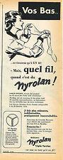 PUBLICITE ADVERTISING 045  1953 FIL NYROLAM pour bas & collants
