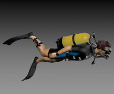 1/35 Resin Figure Model Kit Recreational SCUBA DIVER WWII Unassambled Unpainted