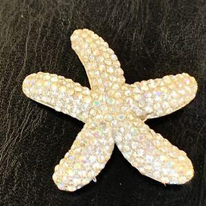 Vintage Starfish Rhinestone Pin Brooch Pendant