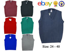 New Uniform School V Neck Tank Top Kids Knitted Sleeveless Jumper Schoolwear Top