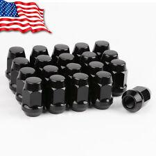 20  Wheel Lug Nuts 12x1.5 Bulge Acorn Closed Black fits Ford Fusion Focus Escape