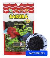 SAKURA BETTA FIGHTING FISH Food - Baby Pellet - Floating Type - 0.7 oz (20 g)