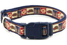 Douglas Paquette SURF WOODIE Nylon & Ribbon Adjustable Dog Collar Lead